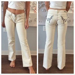 Citizens of Humanity white denim jeans, size 28